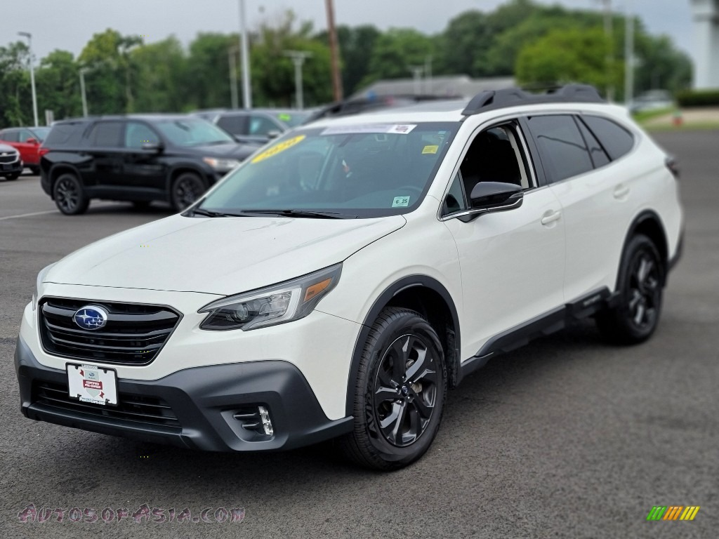 2020 Outback Onyx Edition XT - Crystal White Pearl / Gray StarTex photo #1