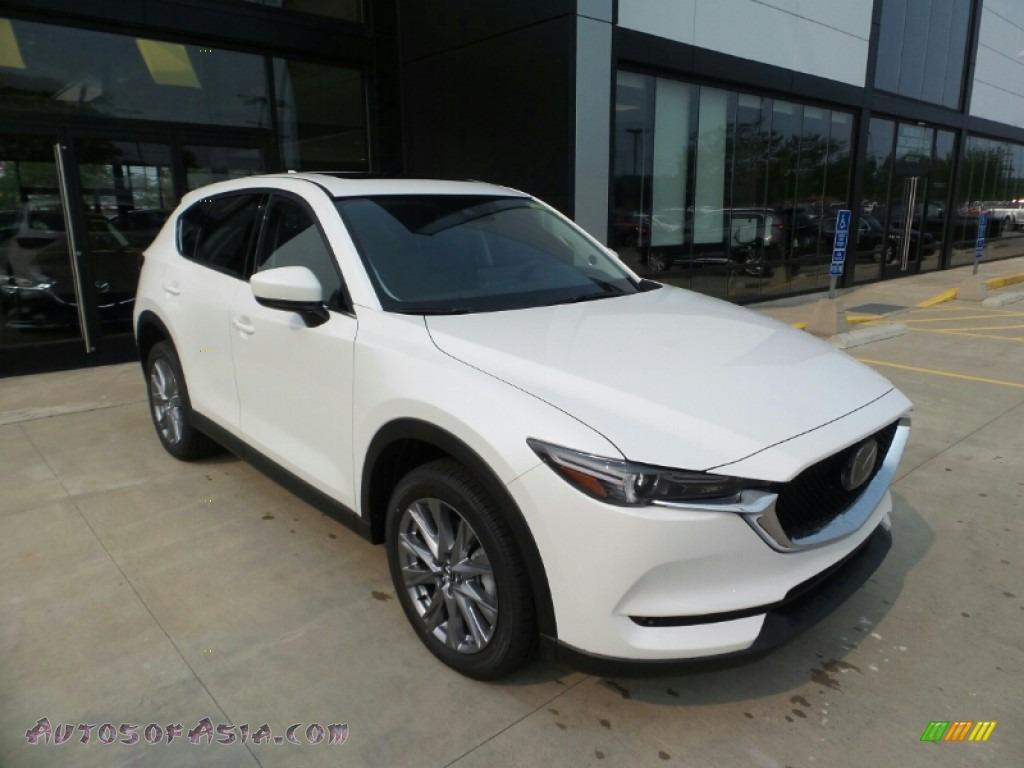 2021 CX-5 Grand Touring Reserve AWD - Snowflake White Pearl Mica / Black photo #1
