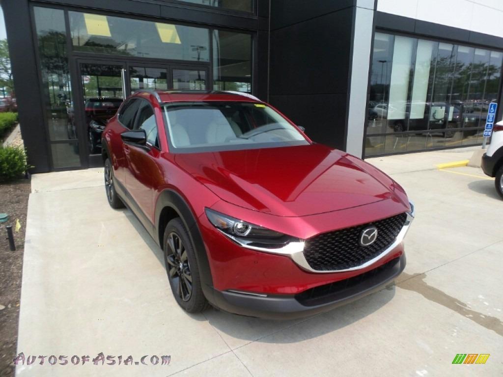 2021 CX-30 Turbo Premium Plus AWD - Soul Red Crystal Metallic / White photo #1