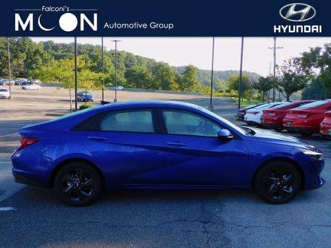 Blue 2022 Hyundai Elantra SEL
