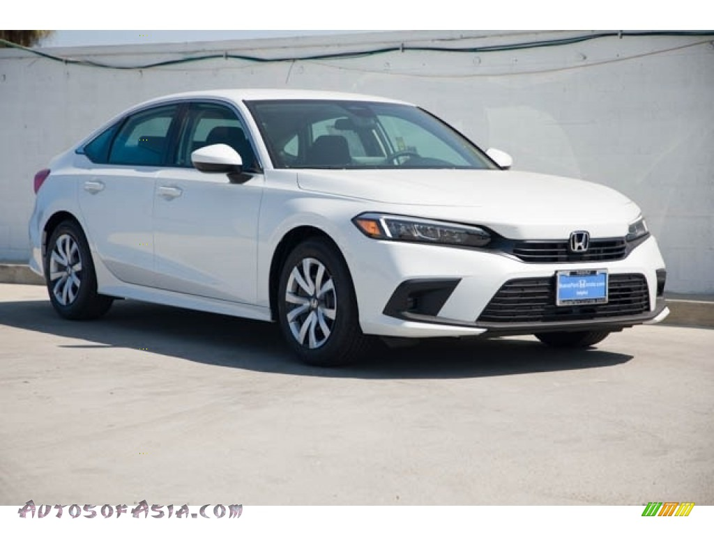 2022 Civic LX Sedan - Platinum White Pearl / Black photo #1
