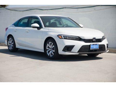 Platinum White Pearl 2022 Honda Civic LX Sedan