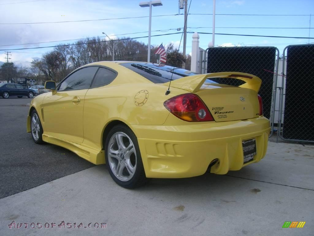 2004 hyundai tiburon gt special edition in sunburst yellow photo 4 153282 autos of asia japanese and korean cars for sale in the us autos of asia