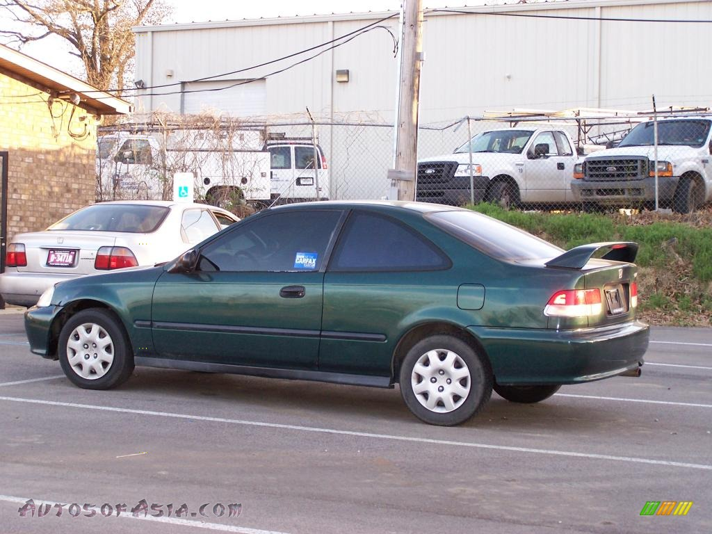 1999 honda civic dx coupe in clover green pearl 025265 autos of asia japanese and korean. Black Bedroom Furniture Sets. Home Design Ideas