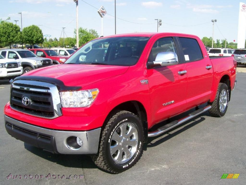 2010 Toyota Tundra Sr5 Crewmax 4x4 In Radiant Red Photo 2