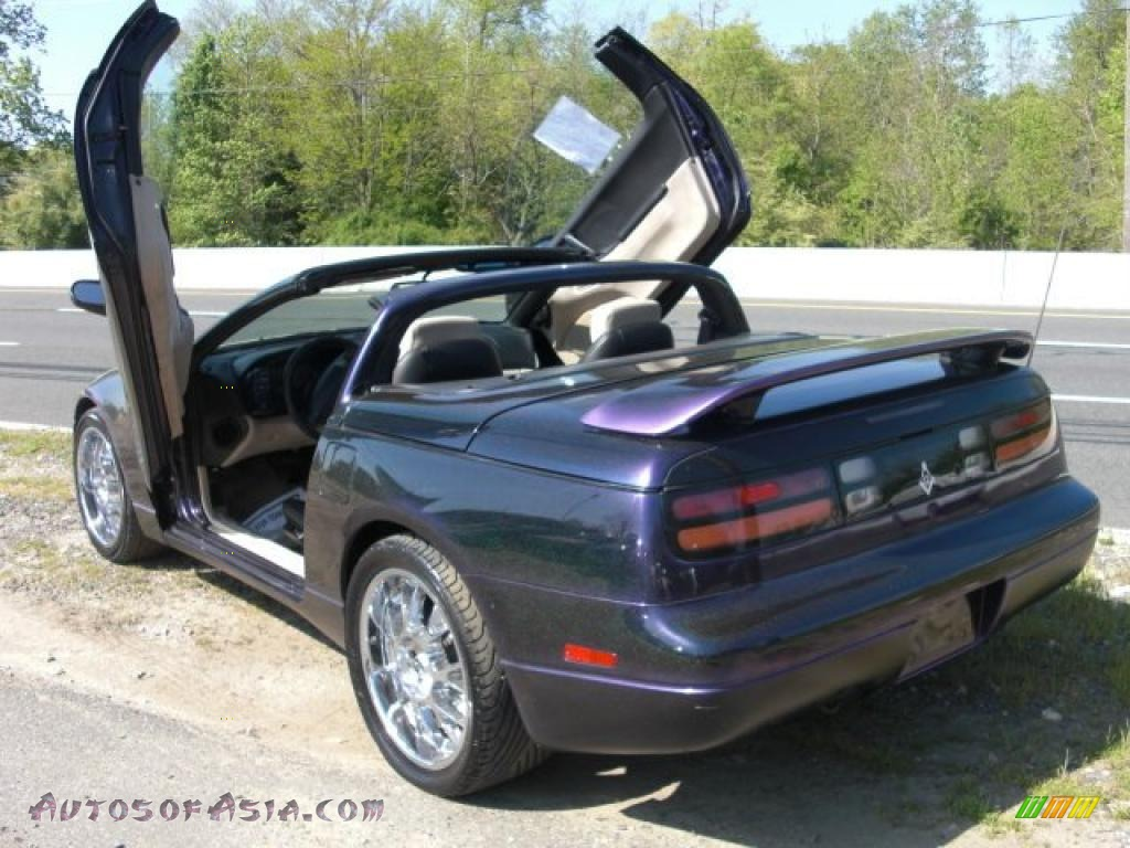 1996 300zx Convertible Deep Purple Metallic Black Beige Photo 3