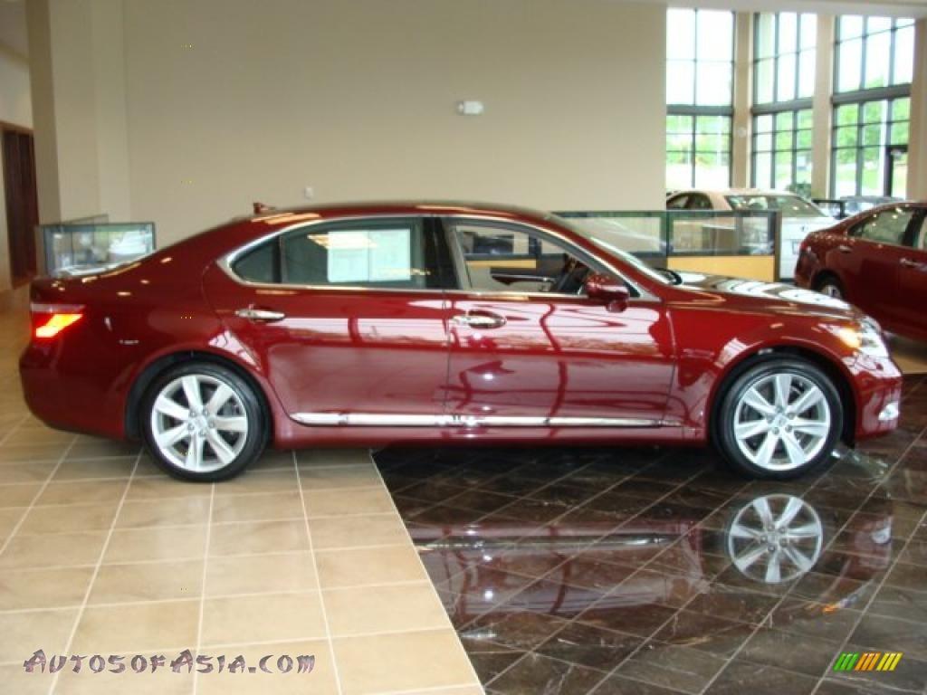 2008 lexus ls 600h l hybrid in noble spinel red mica. Black Bedroom Furniture Sets. Home Design Ideas