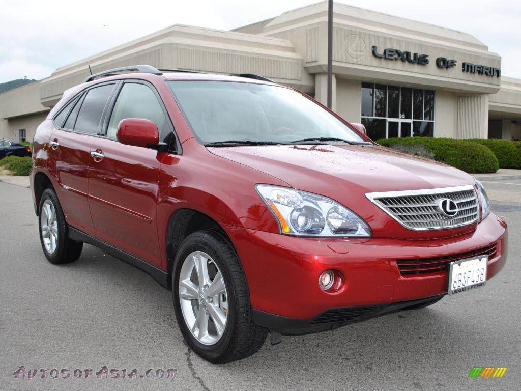 2008 lexus rx 400h awd hybrid in matador red mica 047255. Black Bedroom Furniture Sets. Home Design Ideas