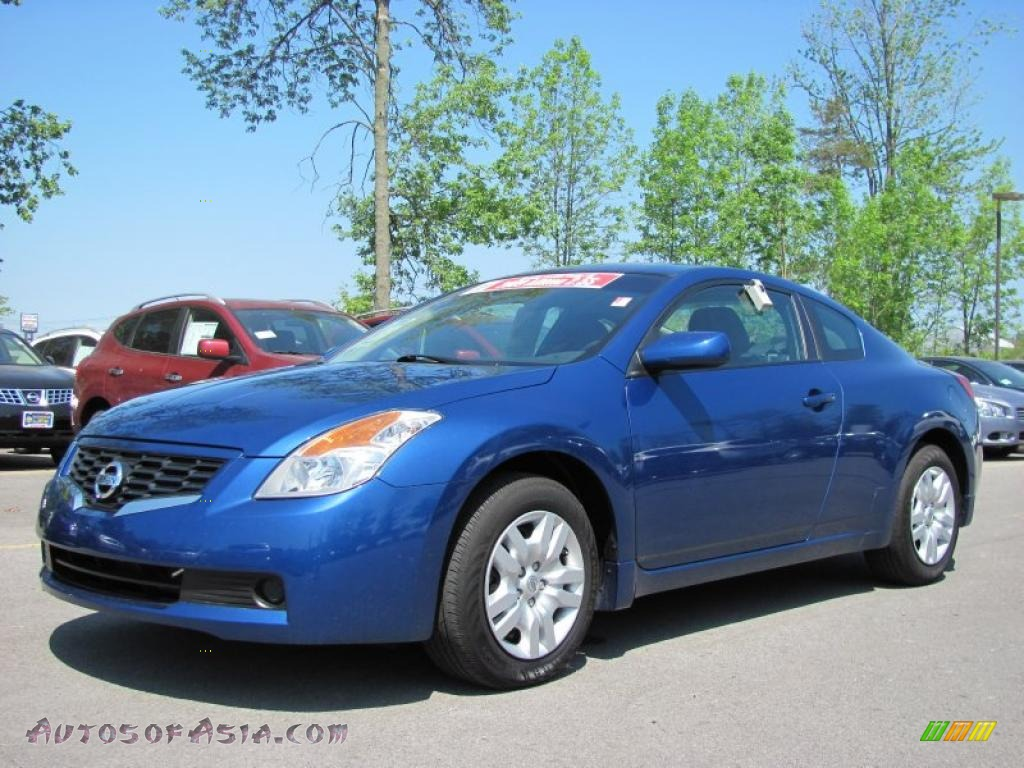 2009 nissan altima 2 5 s coupe in azure blue metallic 121038 autos of asia japanese and. Black Bedroom Furniture Sets. Home Design Ideas