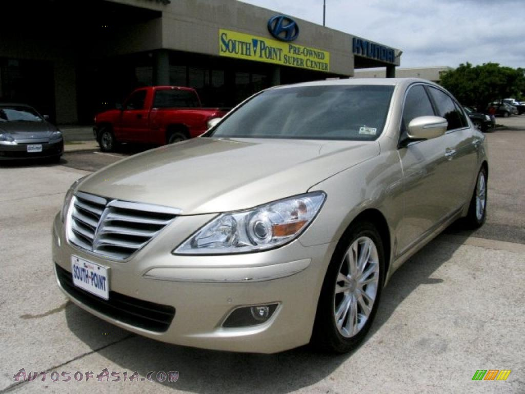2009 hyundai genesis 4 6 sedan in champagne beige metallic. Black Bedroom Furniture Sets. Home Design Ideas