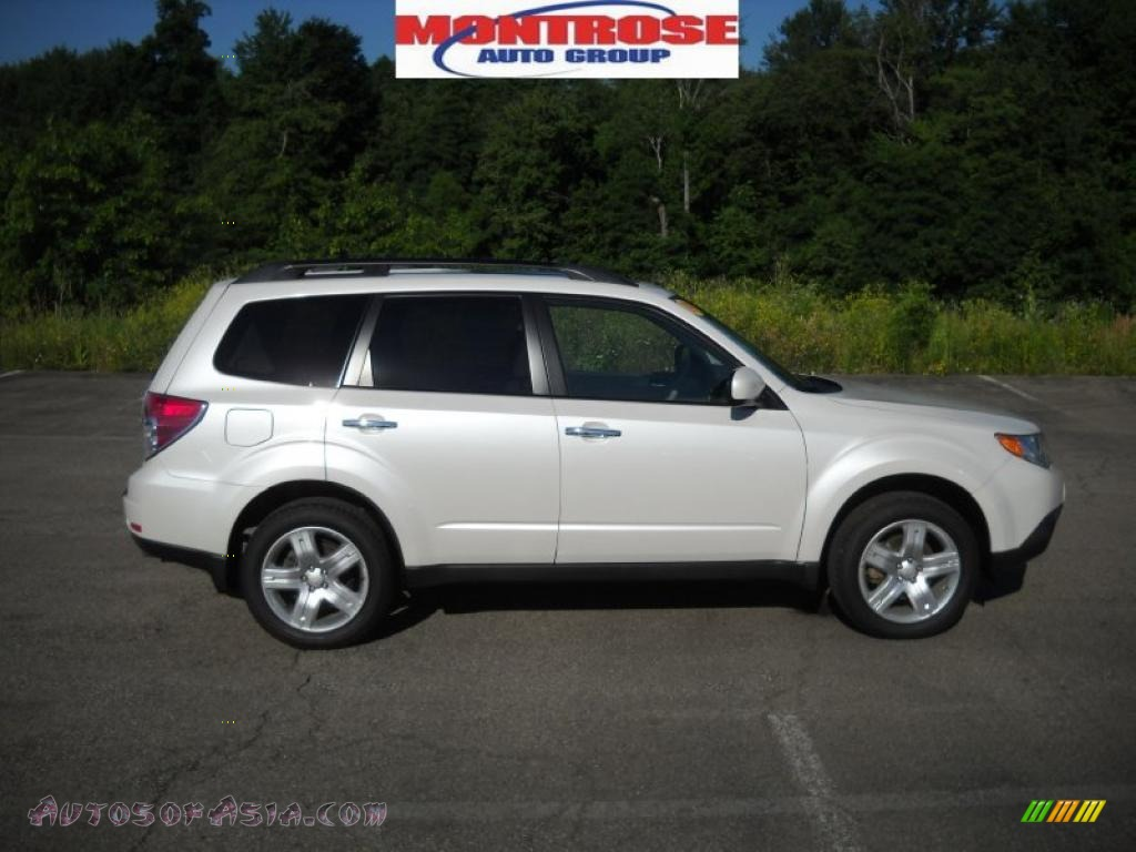 2009 subaru forester 2 5 x limited in satin white pearl 765676 autos of asia japanese and. Black Bedroom Furniture Sets. Home Design Ideas