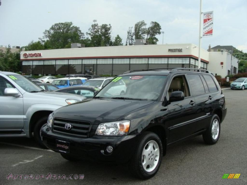 2007 toyota highlander limited 4wd in black 227722 autos of asia japanese and korean cars. Black Bedroom Furniture Sets. Home Design Ideas