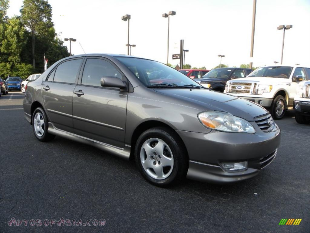 2004 toyota corolla s in moonshadow gray metallic 311891. Black Bedroom Furniture Sets. Home Design Ideas