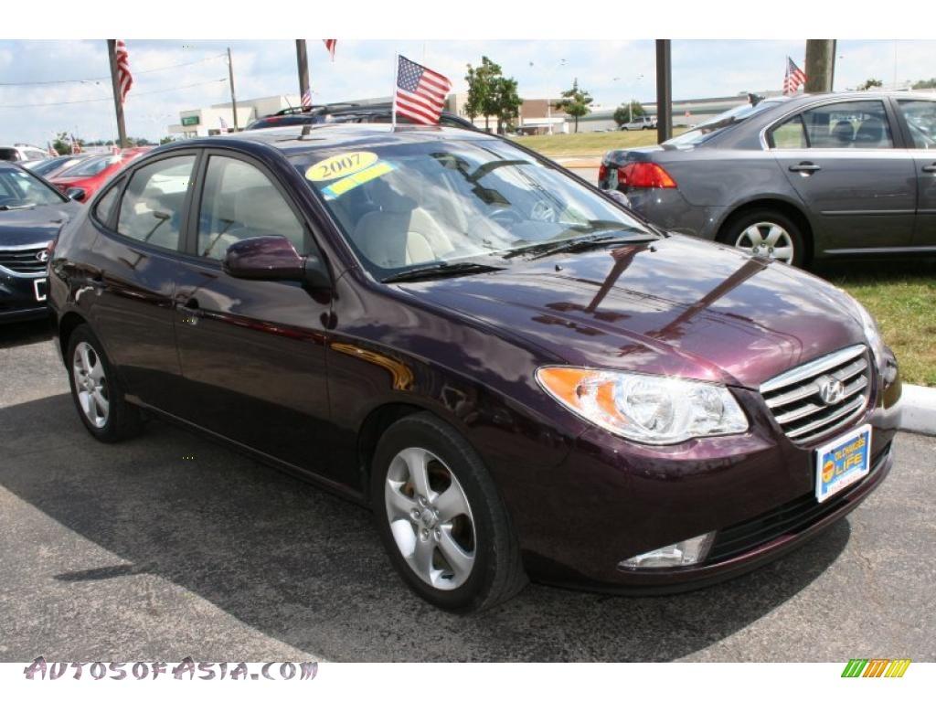 2007 Hyundai Elantra Se Sedan In Purple Rain 254891