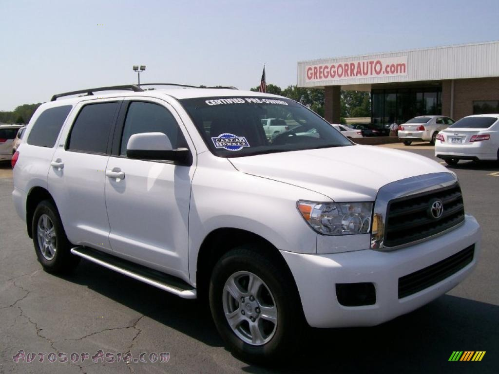 2009 toyota sequoia sr5 in super white 000556 autos of asia japanese and korean cars for. Black Bedroom Furniture Sets. Home Design Ideas