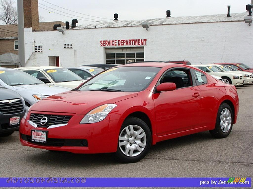 2009 nissan altima 2 5 s coupe in code red metallic 116317 autos of asia japanese and. Black Bedroom Furniture Sets. Home Design Ideas