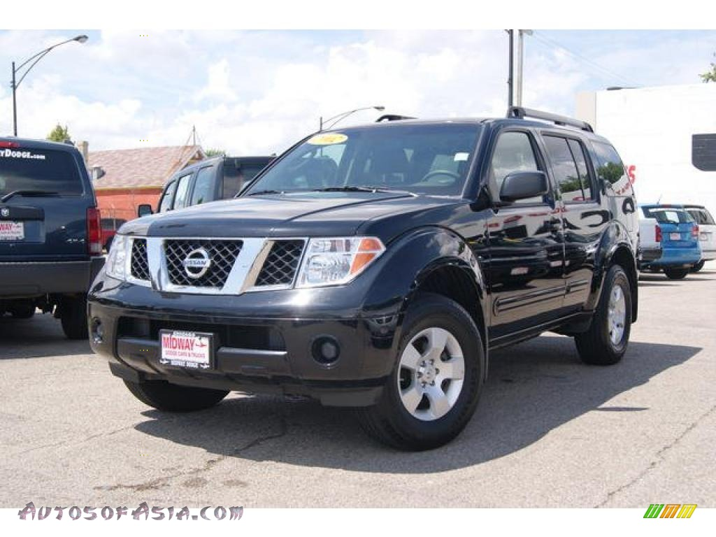 2007 nissan pathfinder s 4x4 in super black 629870 autos of asia japanese and korean cars. Black Bedroom Furniture Sets. Home Design Ideas