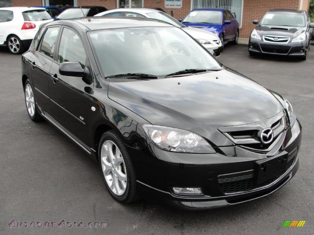 2008 mazda mazda3 s grand touring hatchback in black mica 136249 autos of asia japanese. Black Bedroom Furniture Sets. Home Design Ideas
