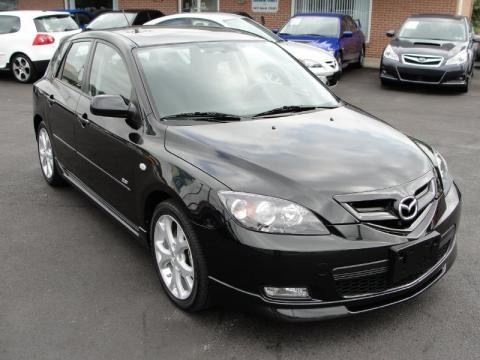 Black Mica 2008 Mazda MAZDA3 s Grand Touring Hatchback. Black Mica