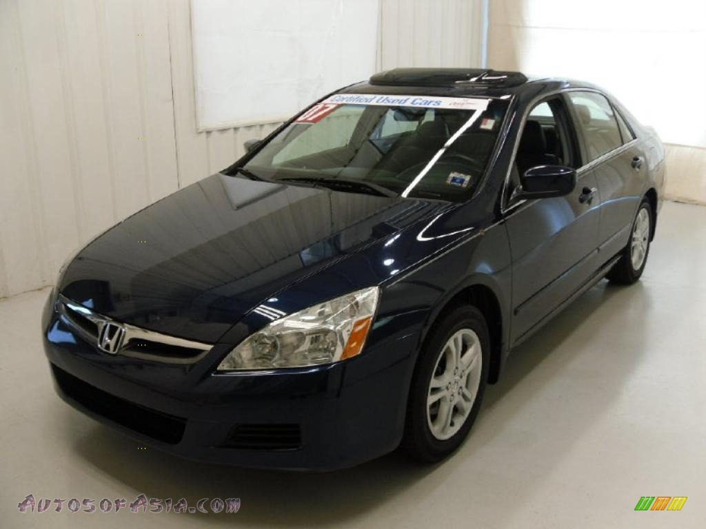 2007 Honda Accord Ex L Sedan In Royal Blue Pearl 119730