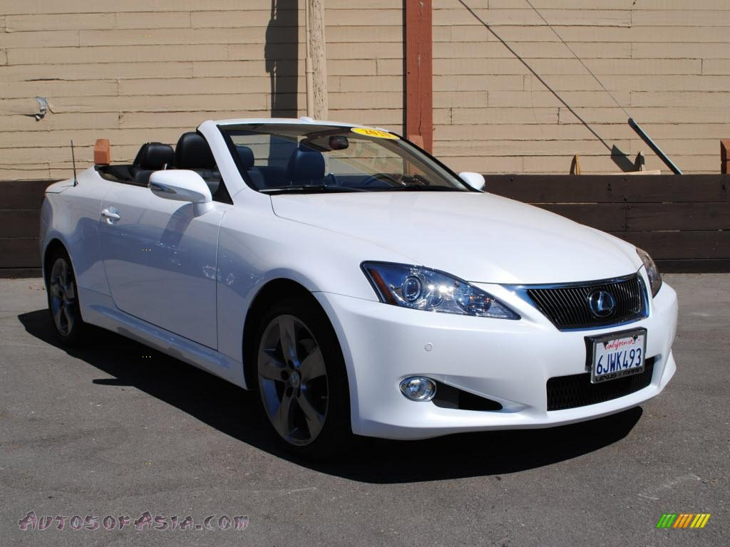 2010 lexus is 250c convertible in starfire white pearl. Black Bedroom Furniture Sets. Home Design Ideas