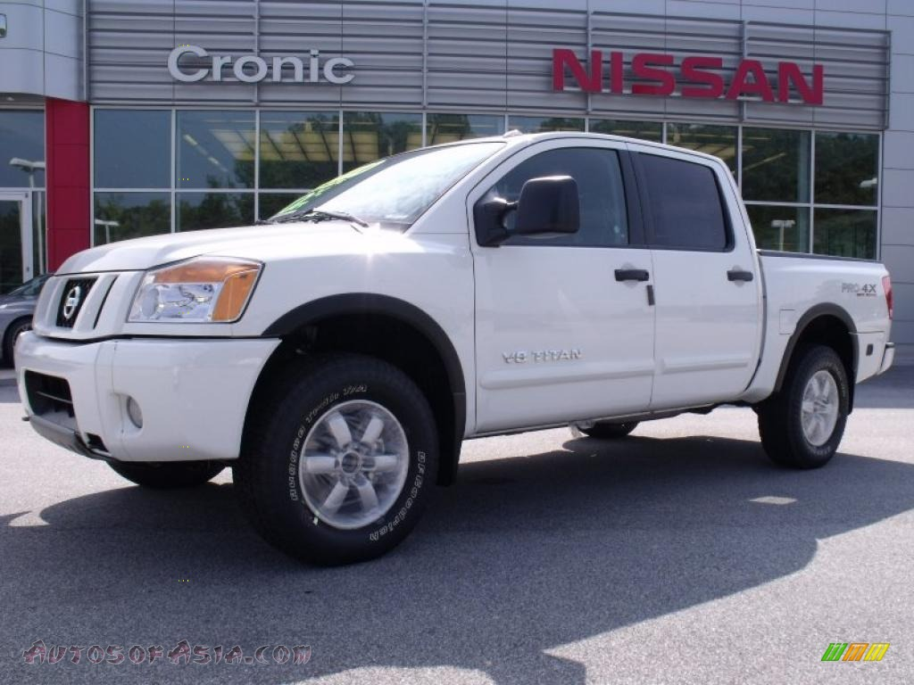 2010 nissan titan pro 4x crew cab 4x4 in blizzard white 325274 autos of asia japanese and. Black Bedroom Furniture Sets. Home Design Ideas