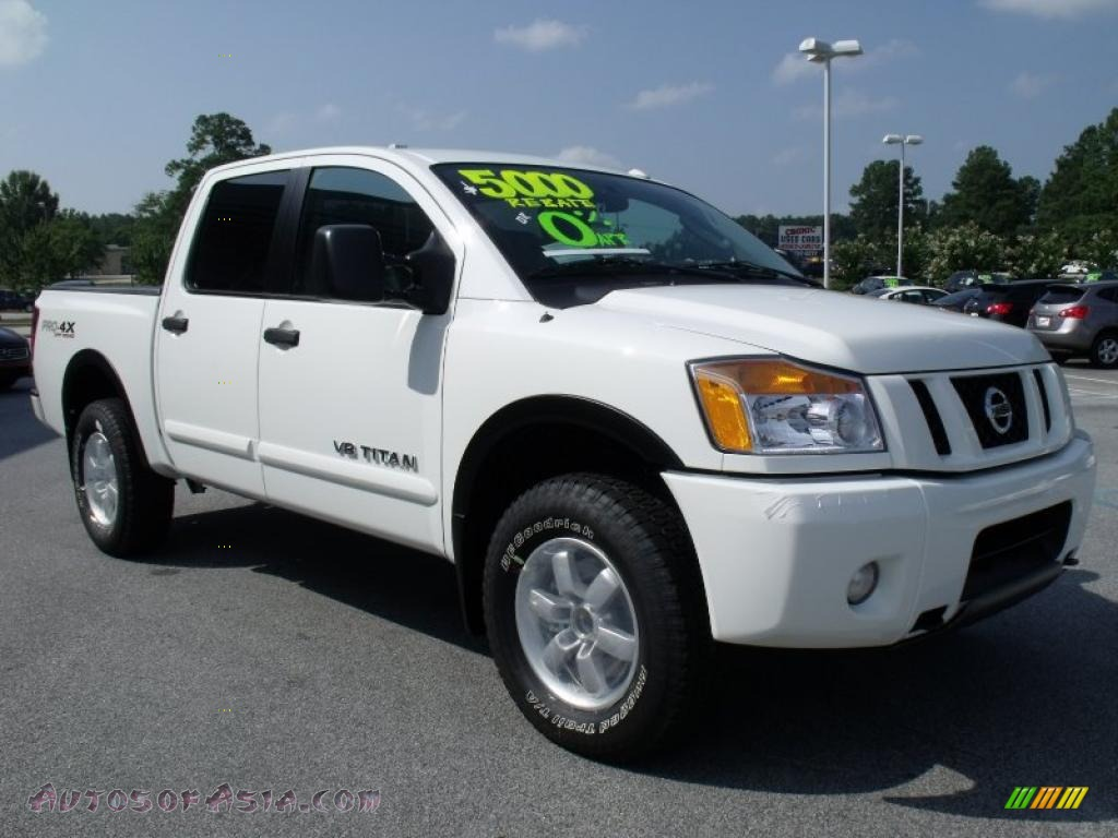 2010 nissan titan pro 4x crew cab 4x4 in blizzard white photo 7 325274 autos of asia. Black Bedroom Furniture Sets. Home Design Ideas