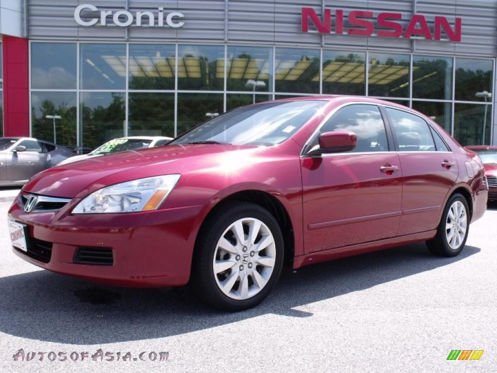 2007 honda accord ex l v6 sedan in moroccan red pearl 065131 autos of asia japanese and. Black Bedroom Furniture Sets. Home Design Ideas
