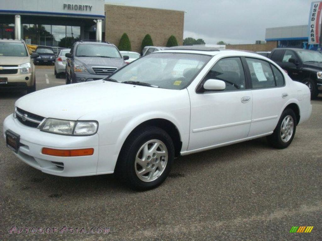 1998 nissan maxima gle in arctic white pearl metallic photo #2