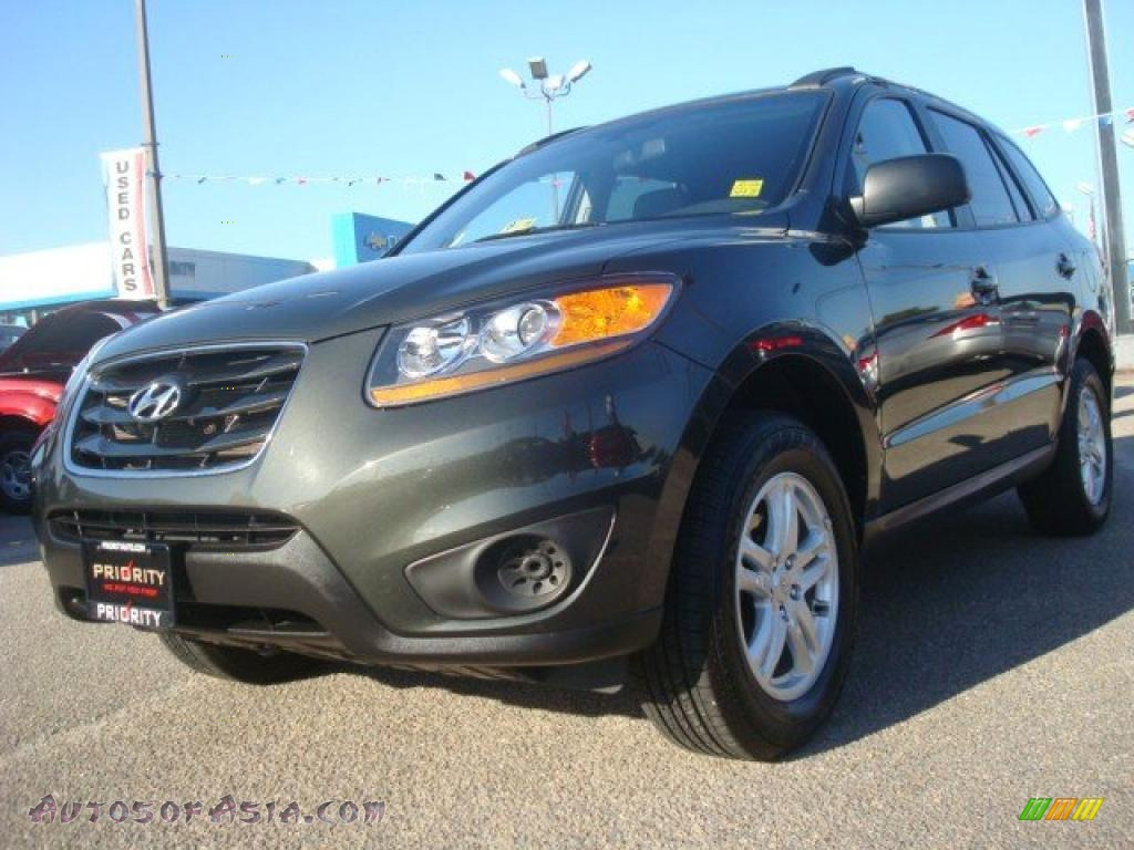 2010 Hyundai Santa Fe Gls In Black Forest Green Metallic