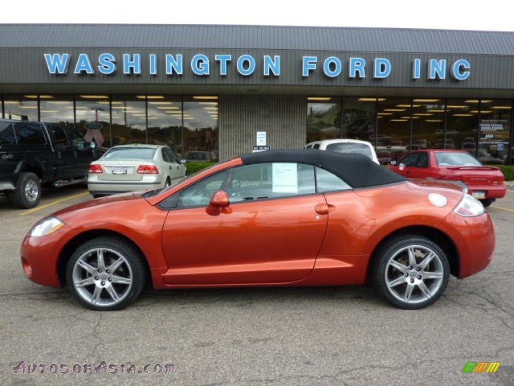 2008 Mitsubishi Eclipse Spyder Gt In Sunset Orange Pearlescent 004001 Autos Of Asia