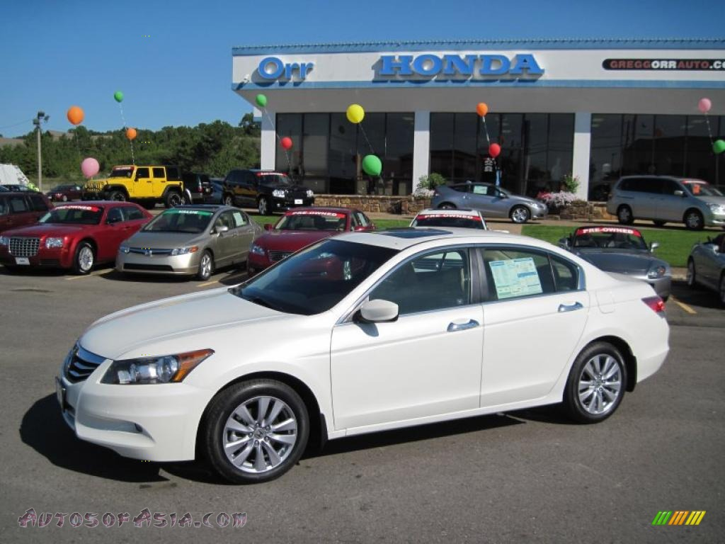 2011 Honda Accord Ex L V6 Sedan In White Diamond Pearl