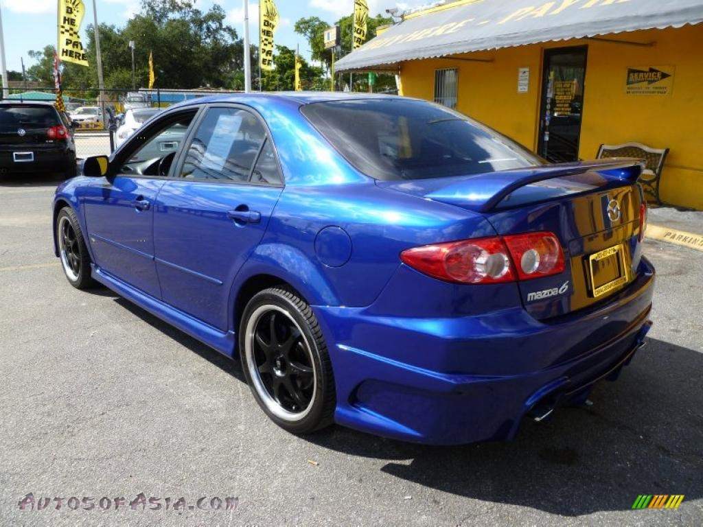 2003 mazda mazda6 s sedan in sonic blue pearl photo 4 m26202 autos of asia japanese and. Black Bedroom Furniture Sets. Home Design Ideas