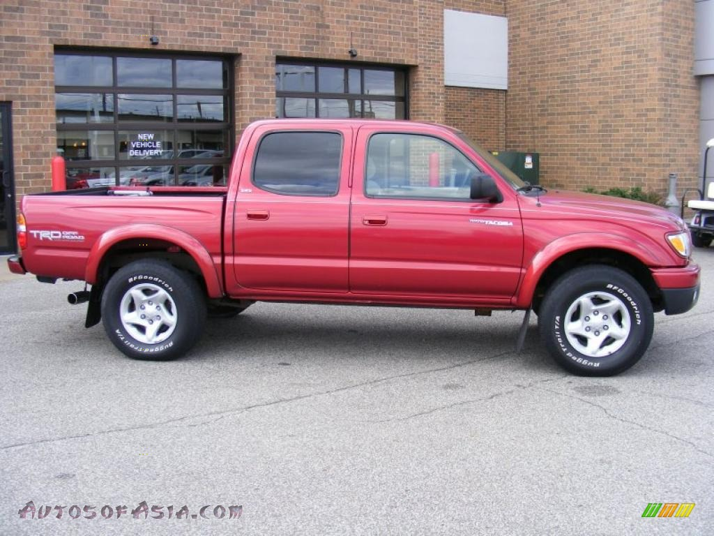 2004 toyota tacoma v6 trd double cab 4x4 in impulse red. Black Bedroom Furniture Sets. Home Design Ideas