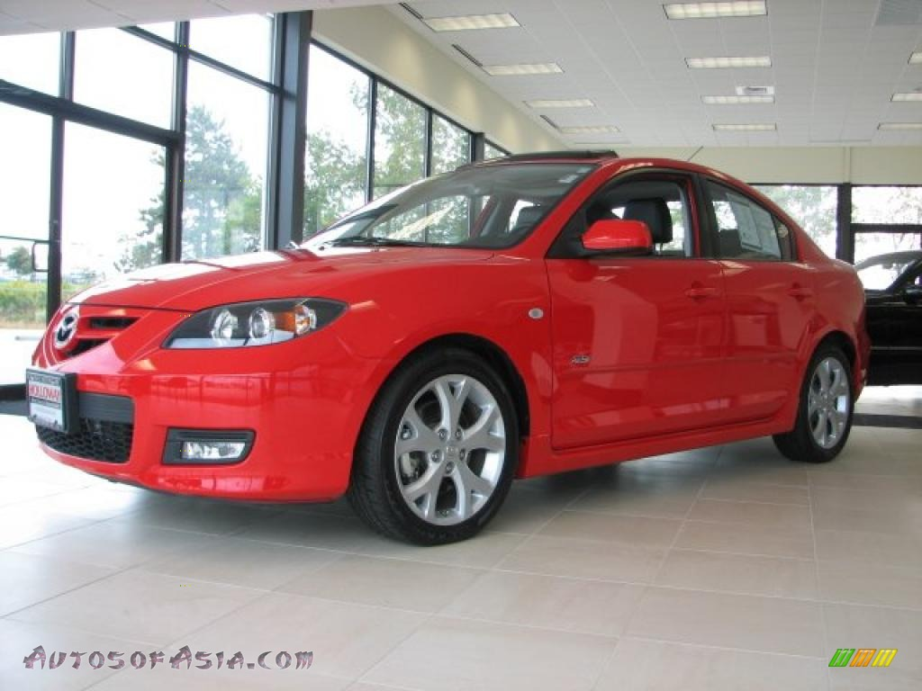 2007 mazda mazda3 s grand touring sedan in true red 662996 autos of asia japanese and. Black Bedroom Furniture Sets. Home Design Ideas