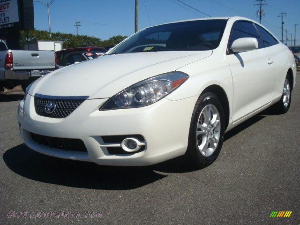 2007 Toyota Solara Sle Coupe In Blizzard White Pearl