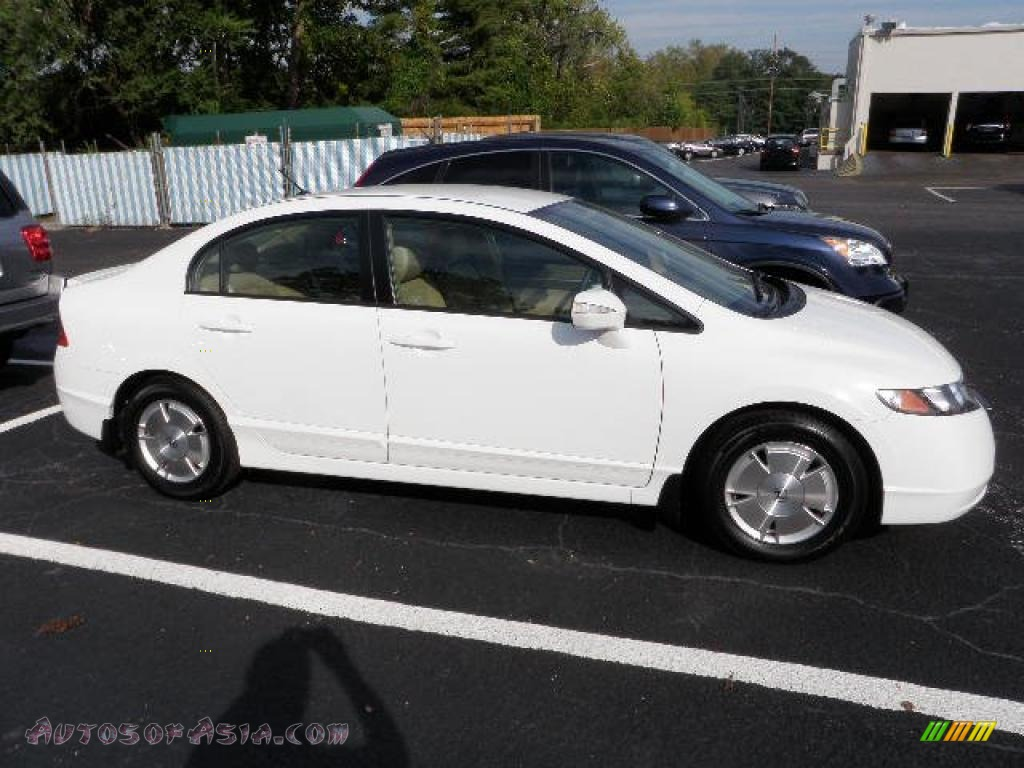 2008 Honda Civic Hybrid Sedan In Taffeta White 029308