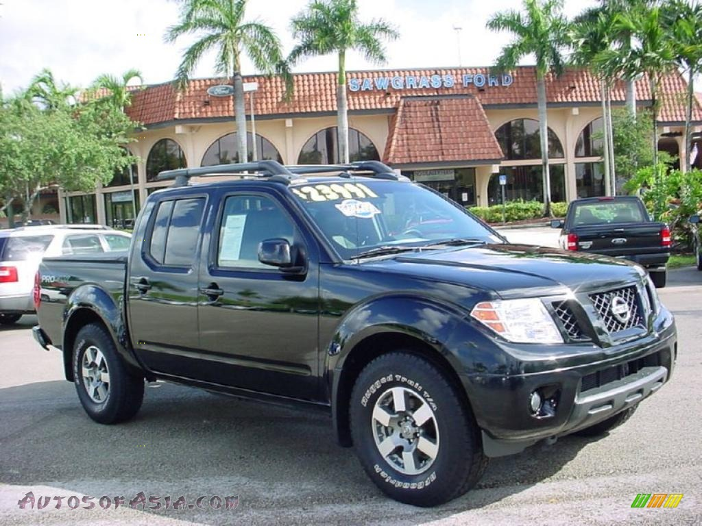 2009 nissan frontier pro 4x crew cab in super black 418497 autos of asia japanese and. Black Bedroom Furniture Sets. Home Design Ideas