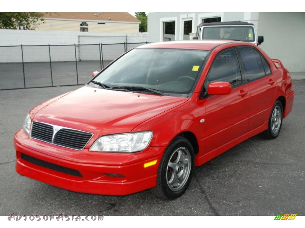 2003 mitsubishi lancer oz rally in phoenix red 046278 autos of asia japanese and korean. Black Bedroom Furniture Sets. Home Design Ideas
