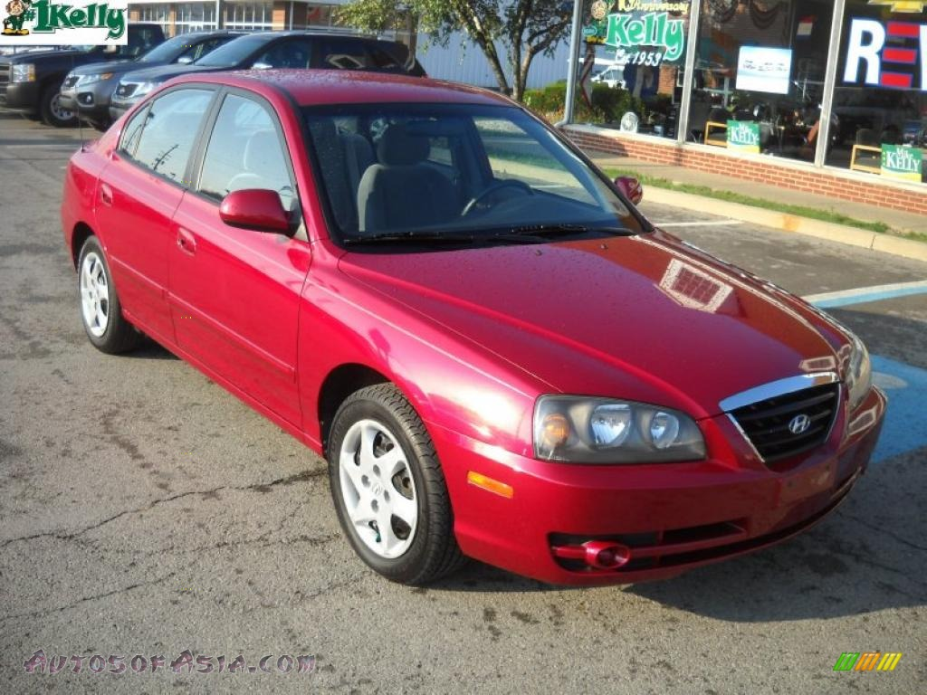 2004 hyundai elantra gls sedan in crimson dark red. Black Bedroom Furniture Sets. Home Design Ideas