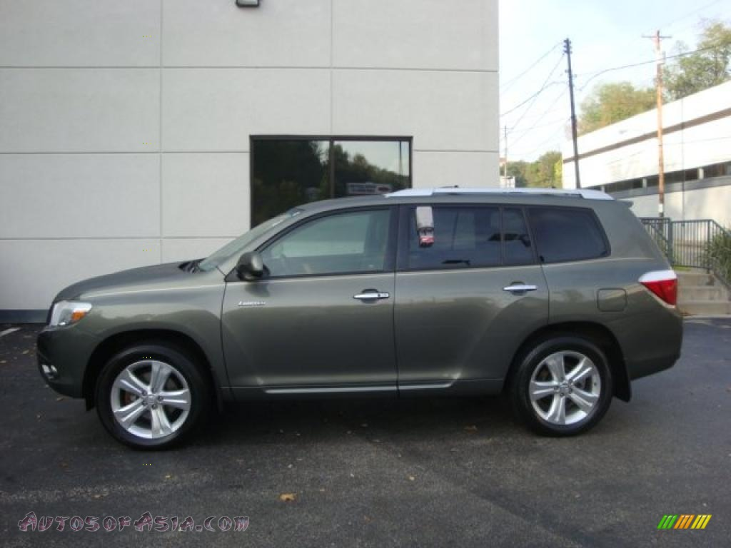 2008 Highlander Limited 4wd Cypress Green Pearl Sand Beige Photo 1