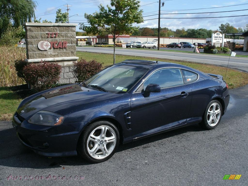 2006 hyundai tiburon gt in moonlit blue metallic 219636 autos of asia japanese and korean. Black Bedroom Furniture Sets. Home Design Ideas