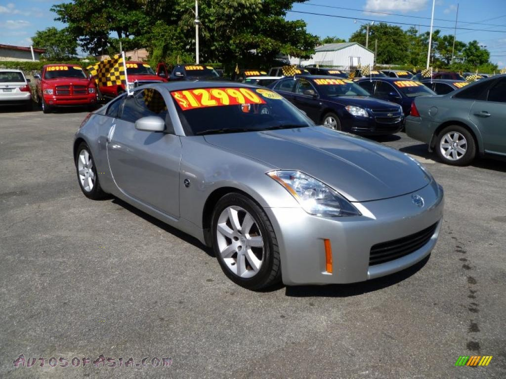 2003 nissan 350z enthusiast coupe in chrome silver 002783 autos of asia japanese and. Black Bedroom Furniture Sets. Home Design Ideas