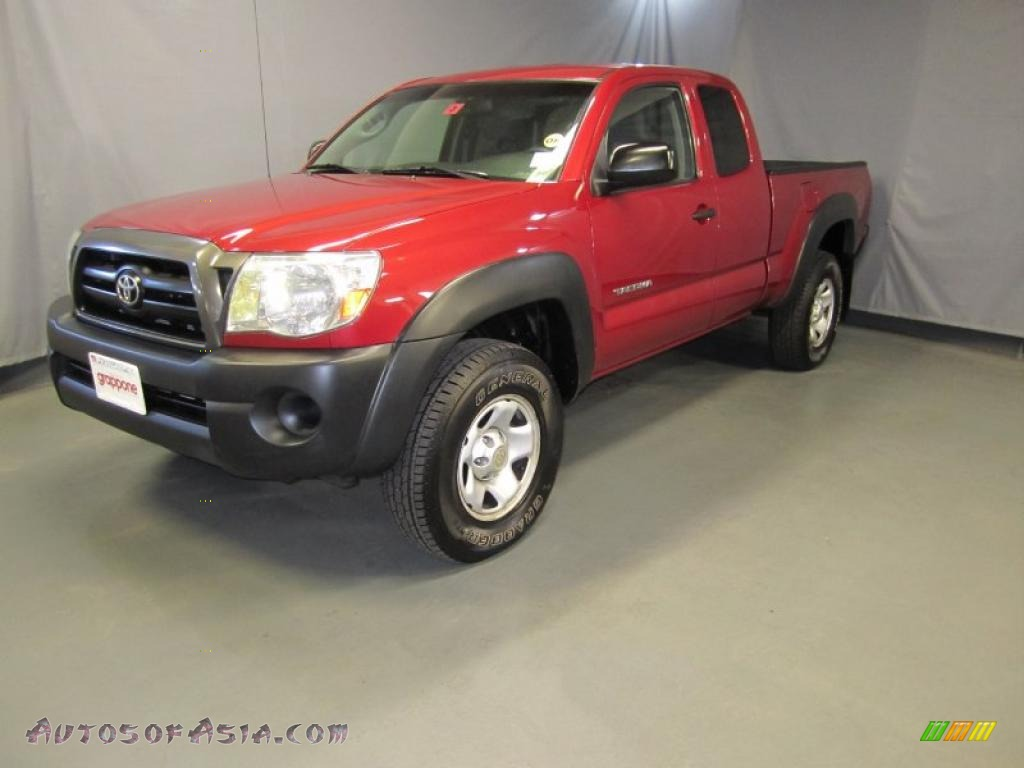2005 toyota tacoma v6 access cab 4x4 in impulse red pearl 127010 autos of asia japanese. Black Bedroom Furniture Sets. Home Design Ideas