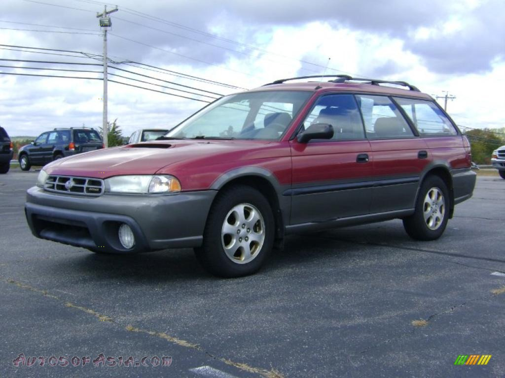 1998 subaru legacy outback wagon in ruby red pearl photo. Black Bedroom Furniture Sets. Home Design Ideas