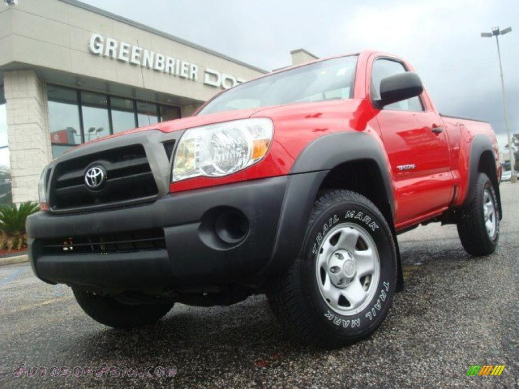 2008 toyota tacoma regular cab 4x4 in radiant red 546405 autos of asia japanese and korean. Black Bedroom Furniture Sets. Home Design Ideas