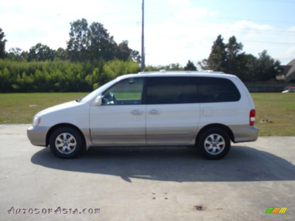 2005 kia sedona ex in clear white 727919 autos of asia japanese and korean cars for sale. Black Bedroom Furniture Sets. Home Design Ideas