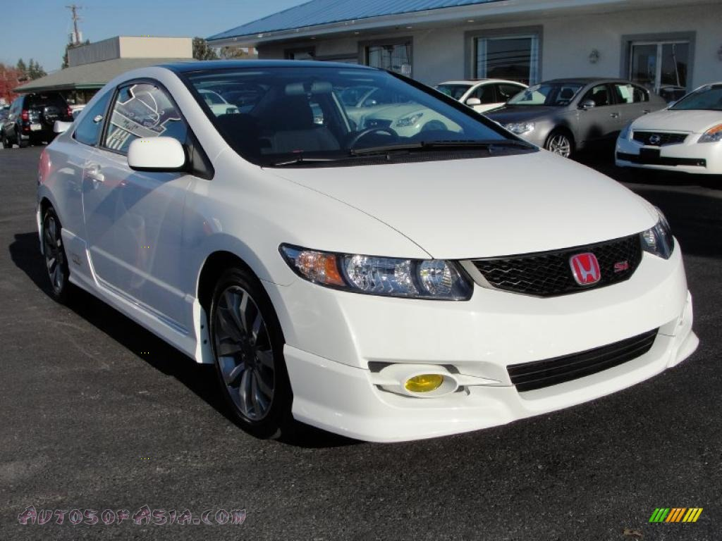 2009 honda civic si coupe in taffeta white 702330 autos of asia japanese and korean cars. Black Bedroom Furniture Sets. Home Design Ideas