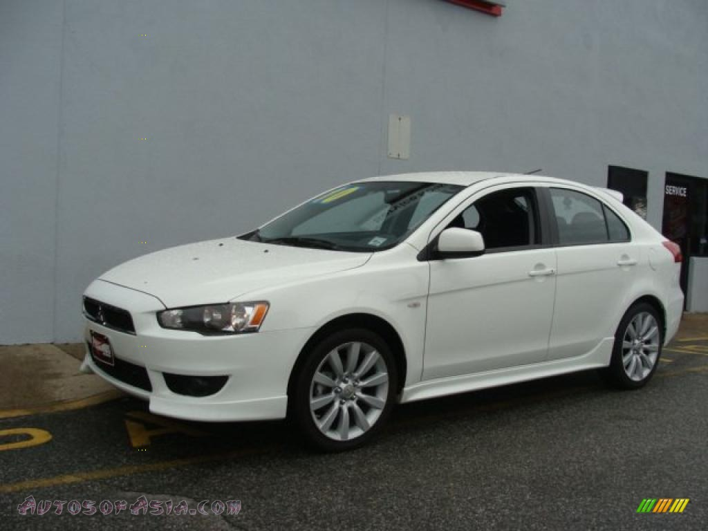 2010 mitsubishi lancer sportback gts in wicked white metallic 002799 autos of asia. Black Bedroom Furniture Sets. Home Design Ideas