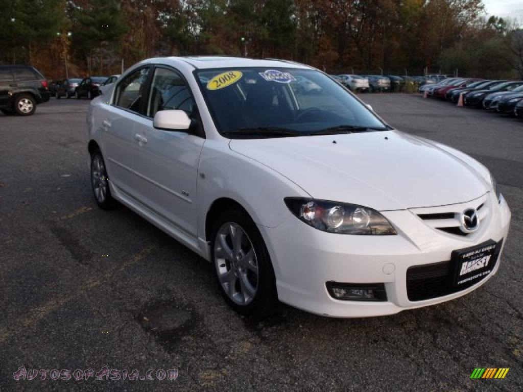 2008 mazda mazda3 s touring sedan in crystal white pearl mica 823938 autos of asia. Black Bedroom Furniture Sets. Home Design Ideas